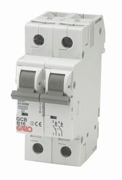 GARO MCB Automat 2p 16A D kar-0