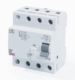 Jordfeilbryter 30mA 4x80 G-12E-0