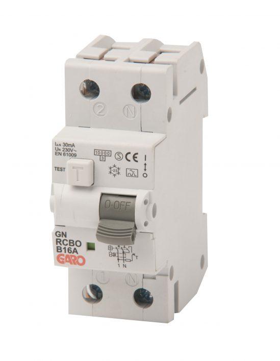 Kombiautomat RCBO 30mA 1+N 15B-0