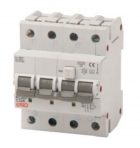Kombiautomat RCBO 3fas 4M 25C-0