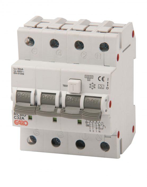 Kombiautomat RCBO 30mA 3+N 32C-0