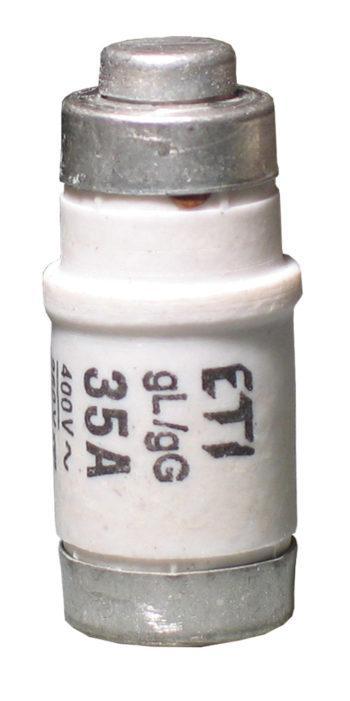 "Smeltesikring D02 E18 25 Amp ""gul passdel""-0"
