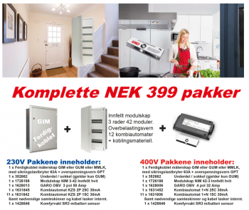 Komplett NEK399 GIM 230V pakke 2017-0
