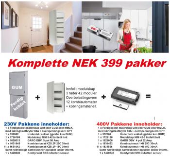 Komplett NEK399 GUM 230V pakke 2017-0