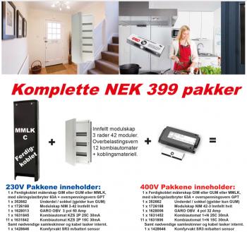Komplett NEK399 MMLK-C 230V pakke 2017-0