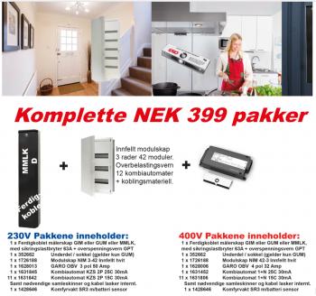 Komplett NEK399 MMLK-D 230V pakke 2017-0